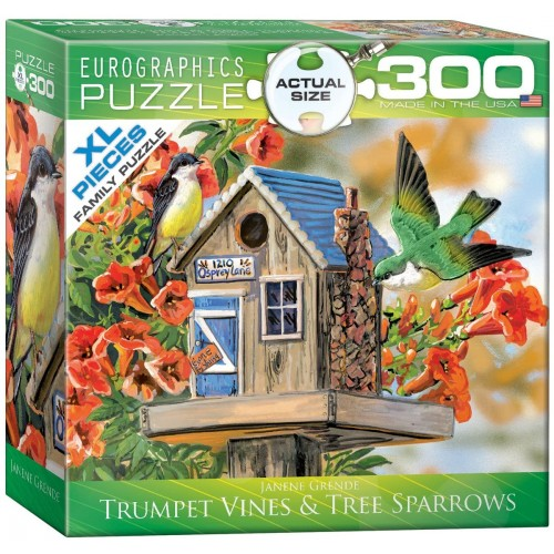 Eurographics Trumpet Vines And Tree Sparrows Puzzle