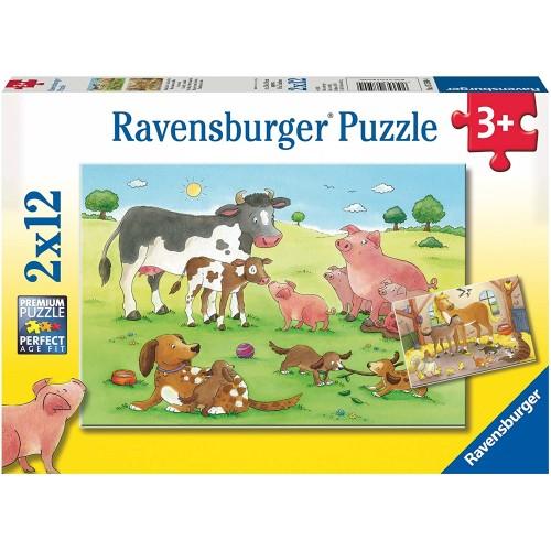 Ravensburger Animals Children Jigsaw Puzzle 2 x 12