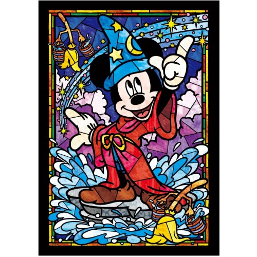 Tenyo Mickey Mouse Stained Glass Gyutto Size Series Jigsaw Puzzle 266