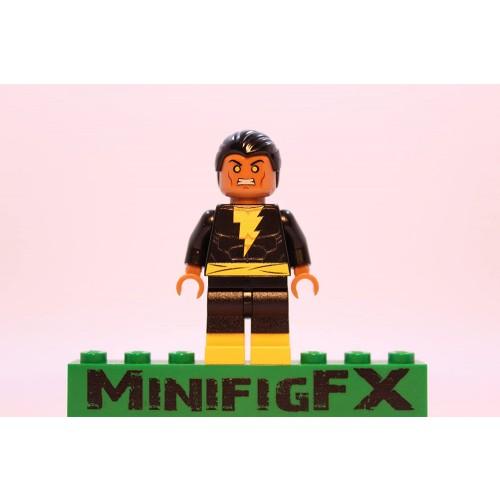 Lego Custom Printed Black Adam Minifig Dc Super Hero Villain