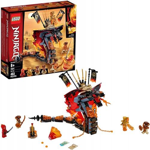 Lego Ninjago Fire Fang 70674 Snake Action Toy Building Set With Stud Shooters And Ninja Minifigures