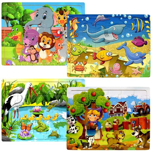Wooden Jigsaw Puzzles For Toddlers Kids Ages 2 3 4 5 Years ...
