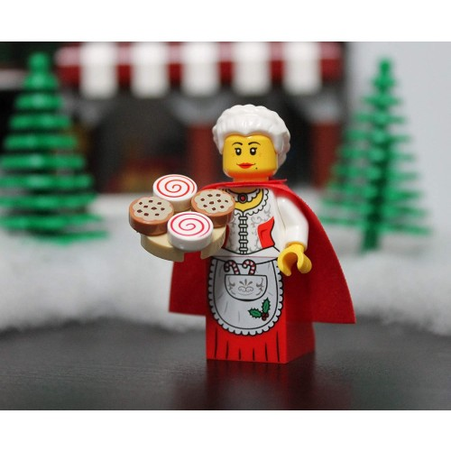 Lego Holiday Mrs Claus Minifigure From Santas Workshop With Cookie Tray