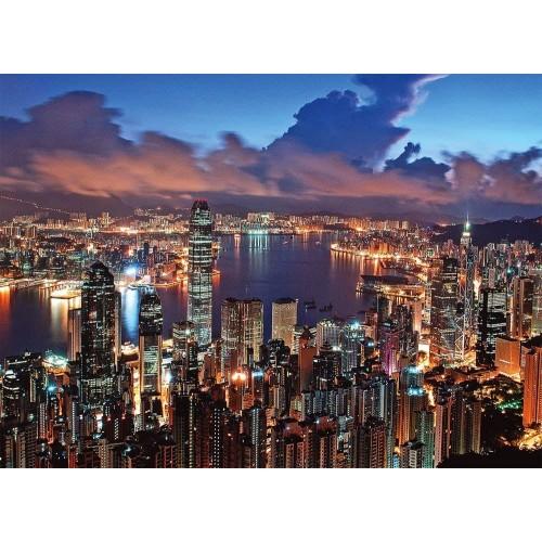 Tomax Hong Kong Night Scene 500 Piece Glowinthedark Jigsaw