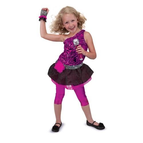 Rock Star Girls Costume Role Play Set