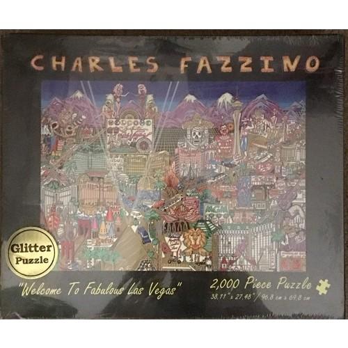 Charles Fazzino Welcome To Fabulous Las Vegas 2000 Piece Glitter