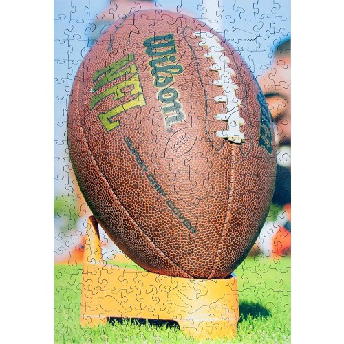 Wooden Jigsaw Puzzles American Football 265 Irregular Pieces Colorful Puzzle For A Real