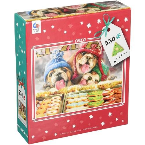 Ceaco Avanti Christmas Holiday Window Shopping Puzzle 550
