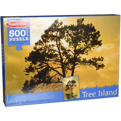 Melissa Doug 500Piece Tree Island Lake Reflections Jigsaw