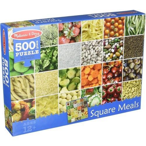 Melissa Doug 500Piece Square Meals Healthy Foods Jigsaw