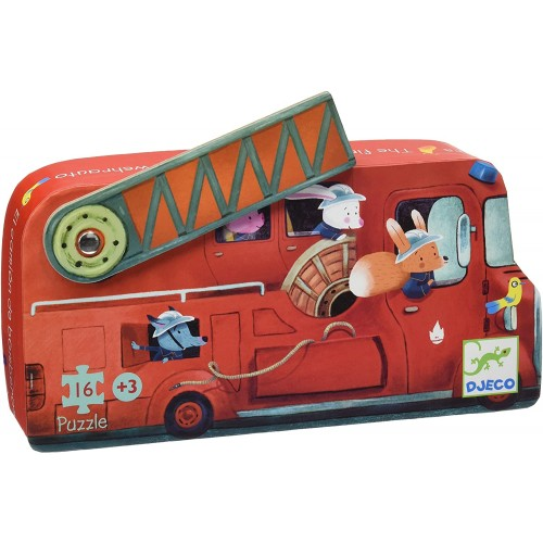 Djeco Fire Truck Mini Jig Saw Puzzle