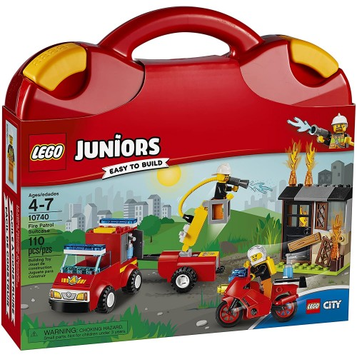 Lego Juniors Fire Patrol Suitcase 10740 Toy For
