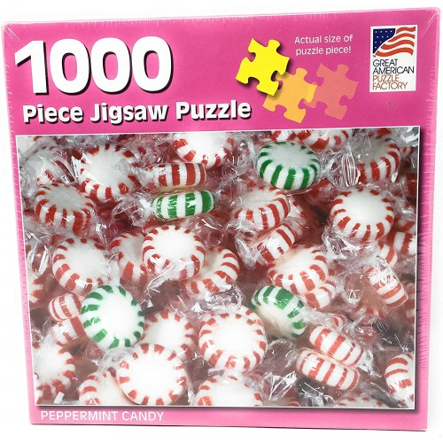 Great American Puzzle Factory Peppermint Candy 1000 Piece