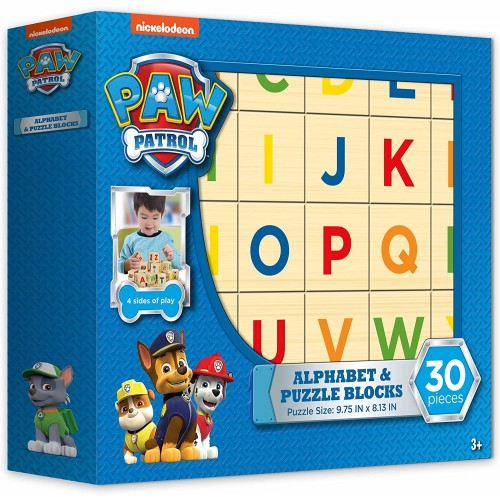 Paw Patrol Alphabet And Puzzle Blocks 30