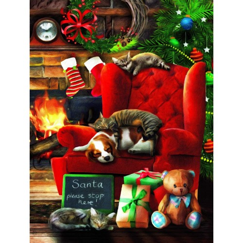 Santa Stop Here 300 Pc Jigsaw Puzzle By Sunsout