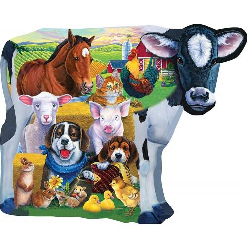 Masterpieces Farm Friends Shaped 100 Piece Kids