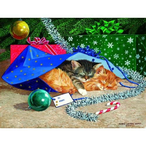 Nap Sack Cat 500 Pc Jigsaw Puzzle By Sunsout Christmas