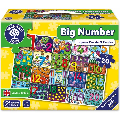 Orchard Toys Big Number Childrens Floor Puzzle Multi 20