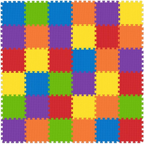 Nontoxic Play Mat Toddlers Childrens Infants Interlocking Foam Puzzle Thickest Baby For