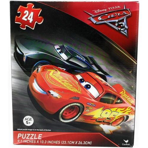 Disney Pixar Cars 3 Lightning Mcqueen Jackson Storm 24 Piece Puzzle