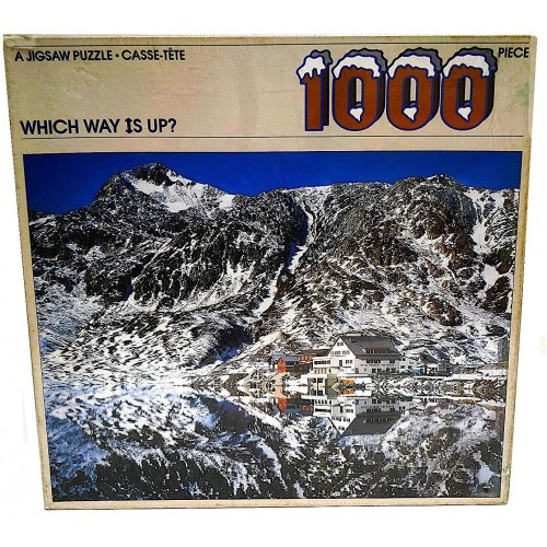 Which Way Is Up 1000 Piece Puzzle Featuring The Picturesque Hotel Grimsel Passhhe Switzerland In