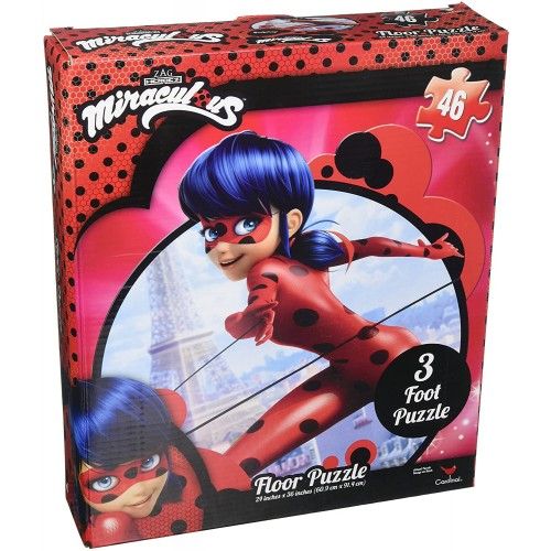 United Pacific Designs Miraculous Ladybug 3Pk Puzzle In Shaped