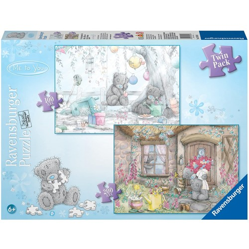 Ravensburger Me To You Cottage Visit And Garden Party 100 Piece 200 Puzzle Twin