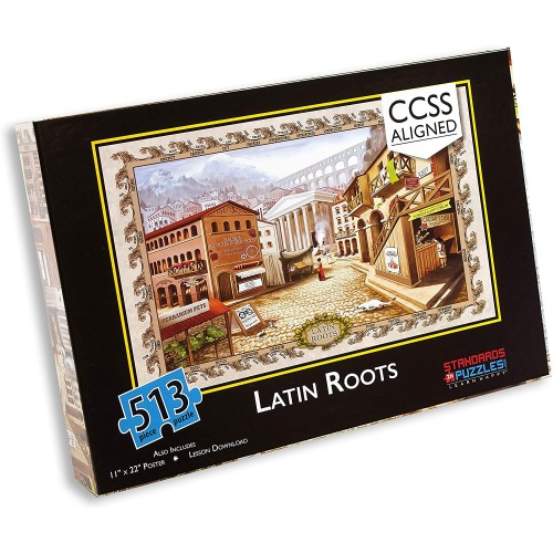 Standards In Puzzles Latin Roots Jigsaw Puzzle With Digital Station Activities And Lesson Plans For