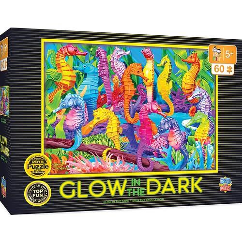 Masterpieces Singing Seahorses 60Pc Glow In The Dark