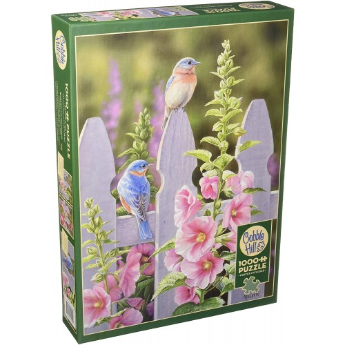 Bluebirds And Hollyhocks Puzzle