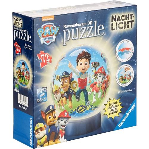 Ravensburger 3D Puzzle 11842Paw Patrol Night Light72Pieces