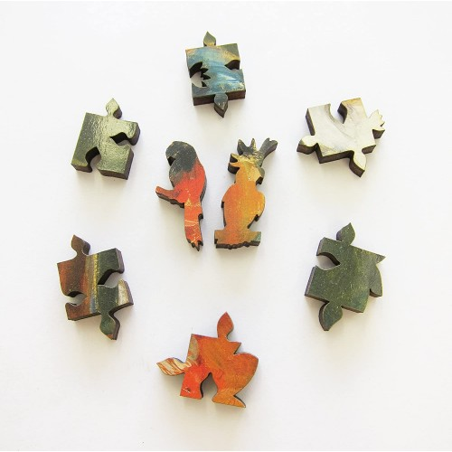 Artifact Puzzles Alceste Campriani Pappagalli Wooden Jigsaw