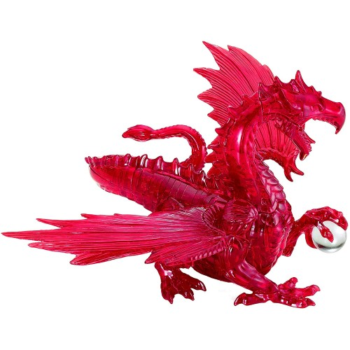 Bepuzzled Deluxe 3D Crystal Jigsaw Puzzle Red Dragon Diy Assembly Brain Teaser Fun Model Toy Gift