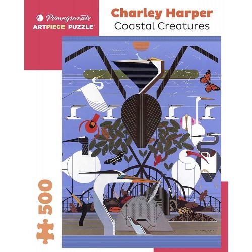 Charley Harper Coastal Creatures 500Piece Jigsaw