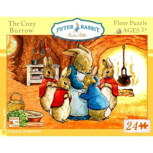 New York Puzzle Company Beatrix Potter Cozy Burrow 24 Piece Jigsaw