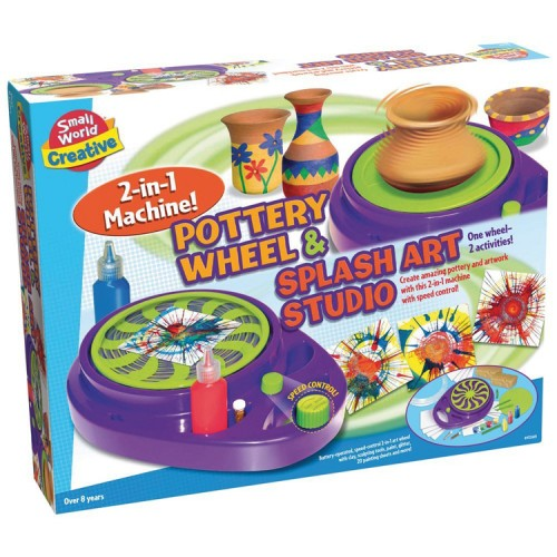 Pottery Wheel & Splash Art Studio 2-in-1 Machine