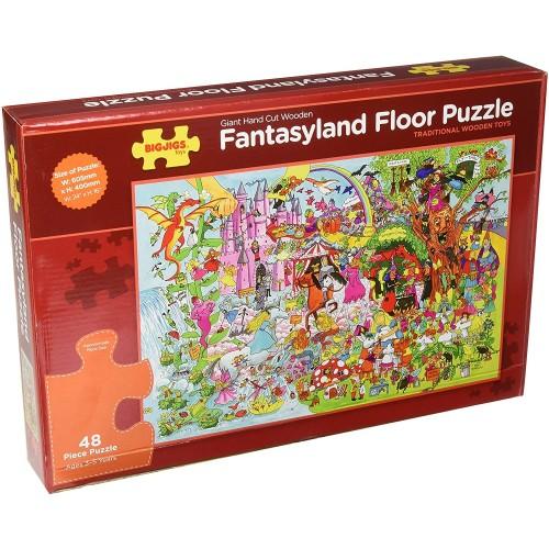 Bigjigs Toys Bj019B Fantasyland Floor Puzzle 48