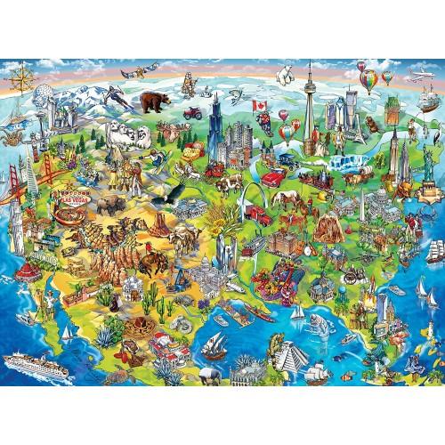 Masterpieces Kids Eye View North America 100 Piece