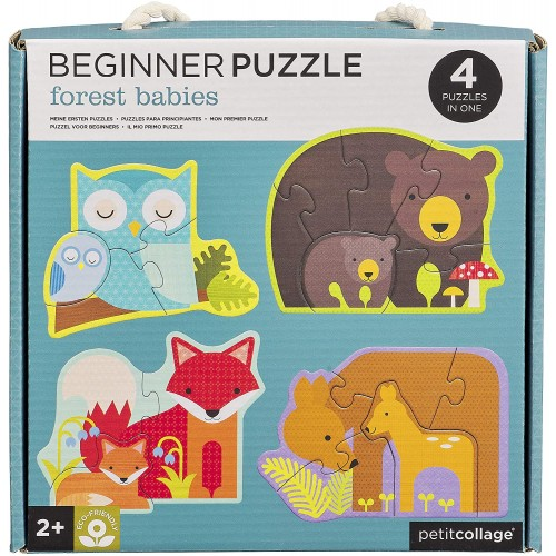 Petit Collage Ptc340 Forest Babies Beginner Puzzle Jigsaw