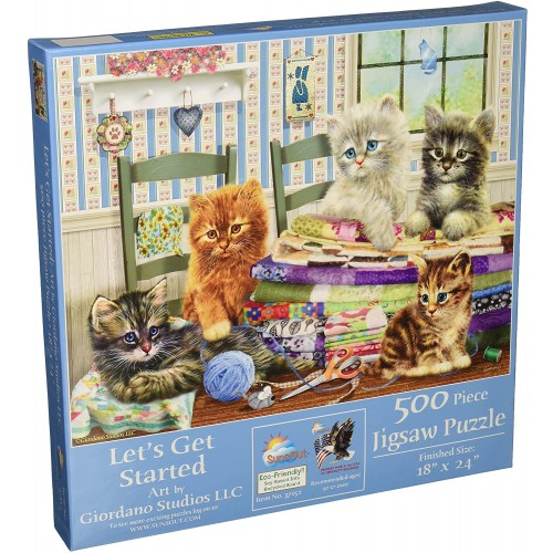 Sunsout Inc Lets Get Started 500 Pc Jigsaw