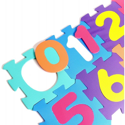Numbers Rubber Eva Foam Puzzle Play Mat Floor 10 Interlocking Playmat Tiles Tile12x12 Inch9 Sqfeet