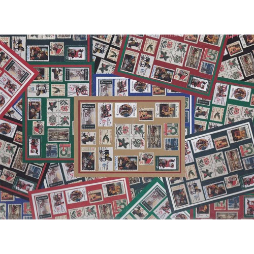 Holiday Traditions 500 Piece Puzzle Designed For The United States Postal Service Stamps