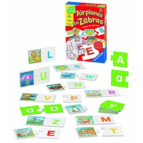 Airplanes to Zebras Early Learning Puzzle Game