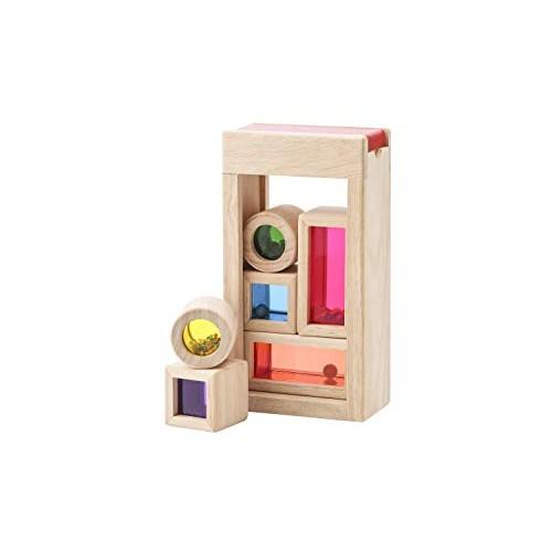 Wonderworld Rainbow Sound Blocks – Stackable Hollow Shape Block Toys 7 Piece Set