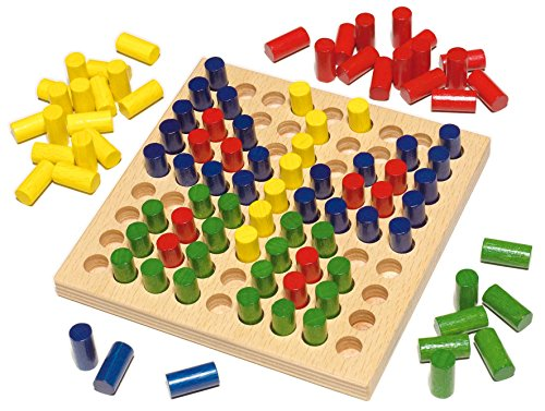HABA Color Peg – Pictures Wooden Mosaic Patterning Set Made in Germany