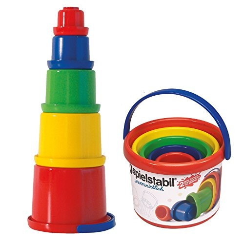 Spielstabil Nesting Stacker – Sturdy 5 Piece Set with Carry Handle Made in Germany