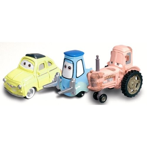 Luigi Guido & Tractor Character Vehicle Set From Disney Cars