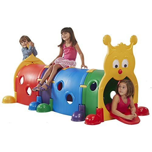 ECR4Kids ELR-035 GUS Climb-N-Crawl Caterpillar Tunnel Indoor and Outdoor Fun Kids Play Structure Expandable