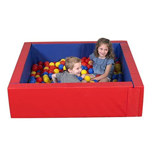 Children's Factory Corral Ball Pool for Toddlers & Kids Indoor Outdoor Soft Foam Square Pit Baby Play Yard Kiddie Dry