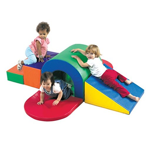 Childrens Factory Alpine Tunnel Slide Soft Indoor Play Equipment Kids Climbing & Baby Crawling Toys Toddler Crawl Classroom Homeschool